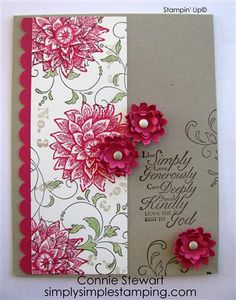 Flash Cards 2.0 - Vintage Boho Blossoms | Simply Simple Stamping