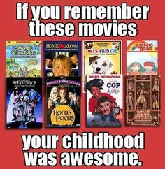 Movies of the late 80s and early 90s