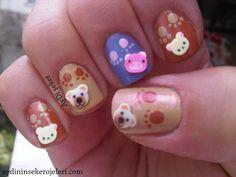 fimo+nail+art | images of nails cute fimo animals nail art animal designs wallpaper
