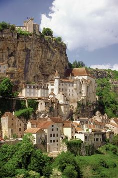 The Rocamadour Castle on in the Dorgogne River Valley of Nice, France