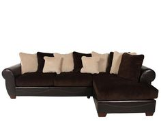 ASH-50700/SECT - Ashley Viva Chocolate Sectional | Mathis Brothers Furniture