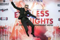 Mikey Koffman flying high on the red carpet. #EndlessNights