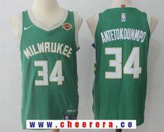 4051a8439ff Men s Milwaukee Bucks  34 Giannis Antetokounmpo Green 2017-2018 Nike  Swingman Harley Davidson Stitched NBA Jersey