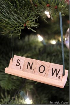 Scrabble Letter Ornament