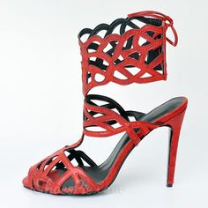 Shoespie Cut-out Slingback Back Lace-up Dress Gladiator Sandals $68.99