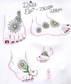 - Daisy Foot Tattoo Ideas by ~LimeGreenSquid on deviantART, sunflowers instead. Daisy Foot Tattoo Ideas by ~LimeGreenSquid on deviantART, sunflowers instead. Ankle Tattoos For Women, Tattoos For Women Flowers, Tattoos For Women Small, Small Tattoos, Trendy Tattoos, Cute Tattoos, Tatoos, Tattoos Pics, Side Foot Tattoos