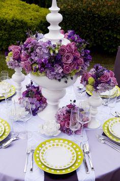 garden wedding table setting Photo By: Love in LA Eventsvendors: Love in LA Events