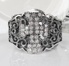 New Antique Silver Filigree Hot Fix by HisJewelsCreations on Etsy, $28.00