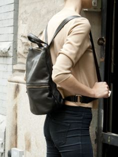 Hare + Hart backpack hand-crafted in Argentina with vegetable-tanned leather