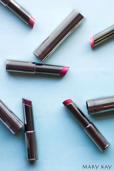 Give your lips a pick-me-up with a swipe of True Dimensions® in Rosette, Pink Cherie, Wild About Pink, Mystic Plum, or Sassy Fuchsia! | Mary Kay