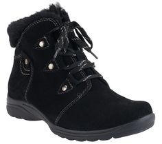 Earth Origins Water Resistant Suede Ankle Boots - Cooper