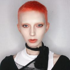 Jude Karda Jude Karda, Shaved Hair Women, Pleasing People, How To Draw Eyebrows, Interesting Faces, Hair Today, Face Shapes, Hair Inspo, Dyed Hair
