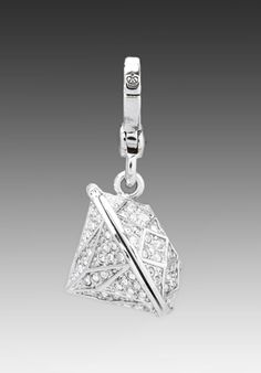 JUICY COUTURE Large Diamond Charm in Silver at Revolve Clothing - Free Shipping!