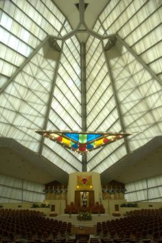 Of all the sacred spaces designed by Frank Lloyd Wright, Beth Sholom Synagogue in Elkins Park, Pennsylvania can be considered as his most expressive buildings for worship.