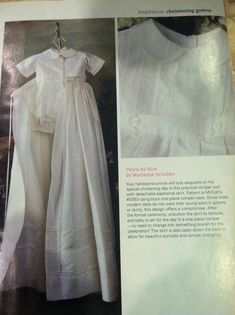 Christening gown and romper for little boy- love the idea of separating the skirt after the Divine Service.