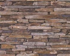 Woodn stone behang steen 9142-17  www.wemekampschildersbedrijf.nl