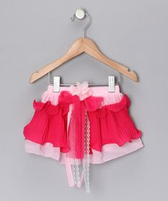 Take a look at this Pink & Hot Pink Tier Skirt - Toddler & Girls by Mia Belle Baby on #zulily today!