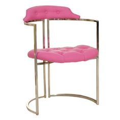 Chrome Pink Tufted Chair