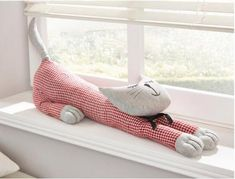 Russian Blue Cat Gallery - Cat's Nine Lives Easy Sewing Projects, Sewing Hacks, Sewing Crafts, Fabric Toys, Fabric Crafts, Draft Stopper, Cat Crafts, Sewing Toys, Love Sewing
