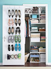 Slowly starting to realize I'm going to end up with a house with a small closet. Organization ideas, here I come.