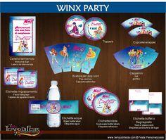Winx Club festa stampabile di Tempodifesta su Etsy, €10.00