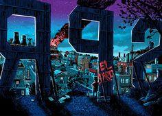 El ilustrador Tim Doyle, creó esta serie espeluznante de lugares de noche de la ciudad natal de los Simpsons, Springfield. Todos los destinos que conoces y amas de la popular serie están aquí, incluyendo la casa de los Simpson, Moe, y la tienda de...