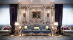 Classic Men Majlis at VWArtclub Luxury Home Decor, Luxury Homes, Bed Design, House Design, Arabic Decor, Dubai, Render Design, Interior Design Companies, Classic Interior