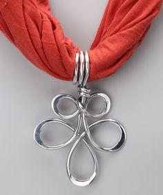 Silver Freedom Scarf Pendant