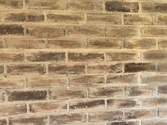 redoing faux brick wall