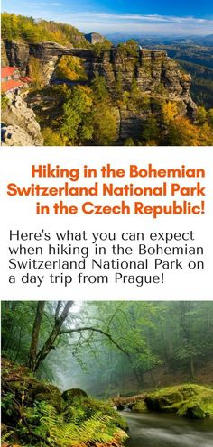 Hiking Day Trips from Prague - Here's what to expect when hiking in the Bohemian Switzerland National Park on a day trip from Prague Czech Republic. Easy hiking, medium level hiking, and difficult level hiking. It's all possible! #Europe #hiking