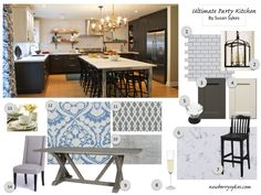 ayakitchencontest Sue's dream kitchen mood board. See sources and credits at newberrysykes.com