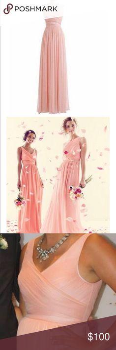 9980d8ac5d63 J Crew Blush Bridesmaid Dress J.Crew Misty Rose Silk Chiffon Heidi Feminine  Bridesmaid/