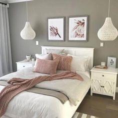 15 Modern Bedroom Interior Design Ideas That Make You Look Twice White Bedroom Decor, Bedroom Colors, Home Decor Bedroom, Modern Bedroom, Decoration Bedroom, White Decor, Bedroom Lamps, Wall Lamps, Stylish Bedroom