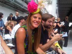 Anna Dello Russo on frontrow @ Costume National