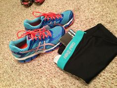 Asics Running shoes and Nike pro