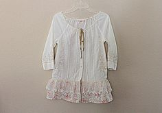 Shabby Chic Shirt - Romantic Top - Women's Upcycled Clothing - Repurposed Clothes on Etsy, $39.62 CAD