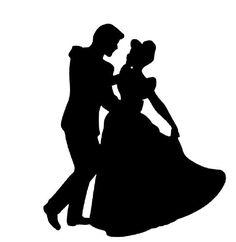 Silhouette Cinderella and Prince + more Disney silhouettes
