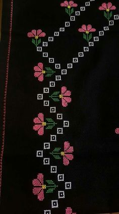 Brilliant Cross Stitch Embroidery Tips Ideas. Mesmerizing Cross Stitch Embroidery Tips Ideas. Learn Embroidery, Cross Stitch Embroidery, Embroidery Patterns, Hand Embroidery, Cross Stitch Borders, Cross Stitch Rose, Cross Stitch Designs, Palestinian Embroidery, Cross Stitch Needles