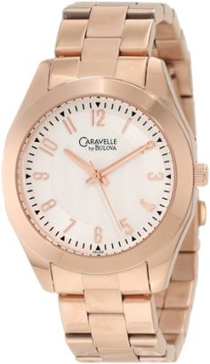 Caravelle by Bulova Women's 44L106 Classic Rose Gold-Tone Watch Caravelle by Bulova