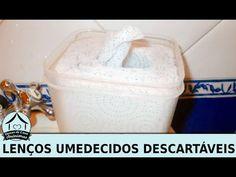 Como fazer lenço umedecido descartável para limpezas - toalhetes de limpeza