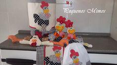 conj. de cozinha de galinha
