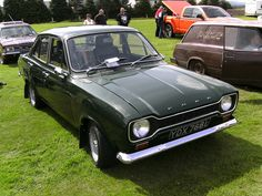 Ford Escort Mark 1 - this was the first car I owned, in this colour too. The bodywork required a bit of work but the engine was great.