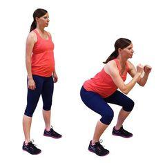 pregnant woman doing squats