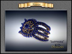 """Tutorial/pattern for """"Sapphire"""" by KDDesignsbyKDevine on Etsy"""