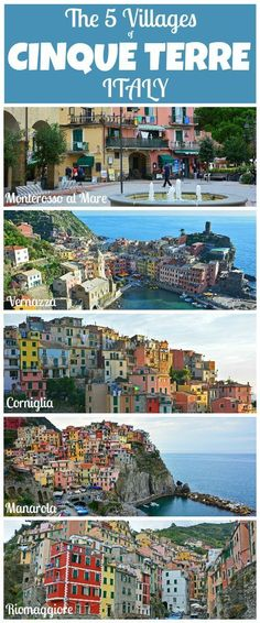 The 5 villages of Cinque Terre is definitely a location in Italy you'll want to put on your Italian itinerary!   This super helpful guide will give you all of the information you need for planning your dream trip to Cinque Terre, Italy.