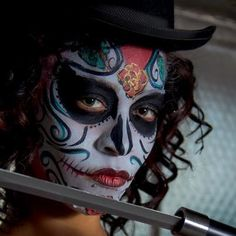Sugar Skull Face Painting by Jennifer Montgomery Philadelphia PA