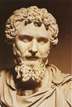 Septimio Severo, busto de mármol, c. 200 d. C. Museo Altes, Berlín