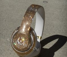 Read Reviews! BLING-BLING! :) Sparkling ICY Couture Swarovski Crystals Gold Studio Beats by Dre bedazzled with thousands of shimmery Golden Shadow crystals. Select your type of Beats for ICY Couture make over with Swarovski Crystals. Custom design are accepted.  Since 2005 Celebrity Trusted Bling Shop, Los Angeles. Ca. We Ship Worldwide