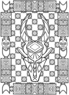coloring page coloring adult african mask 1 Coloring picture of