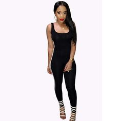0c73ed9abc02 New summer Rompers Women Jumpsuit Bodysuits Solid Sleeveless Backless  Casual One Piece Sexy Bodycon playsuits tracksuit